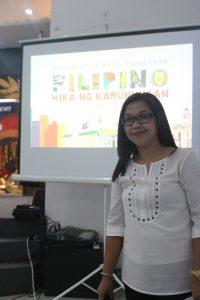Mrs. Grace Dayrit, Chairman of the 2016 Buwan ng Wika Celebration