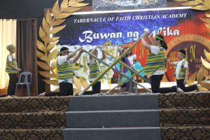 """Grade 5 students performing the """"Singkil."""""""