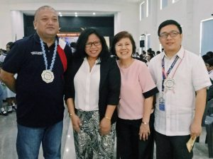 San Jun City Councilor Mr. Vincent Pacheco with Ms. Leah Llarena, Ms. Luzvismin Timbol and Mr. Andrew Tan.